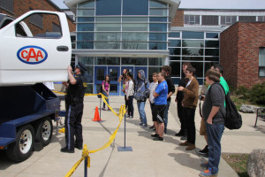Distracted driving, drunk driving, drugging and driving and drowsy driving were addressed at the Sweet Life Road Show. Photo by Melissa Mangelsen.