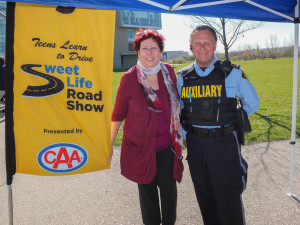 Anne Marie Hayes, Founder, Sweet Life Road Show and Gary Johnson, Auxiliary Constable, OPP. Photo by Darrell Hein (Snapd)